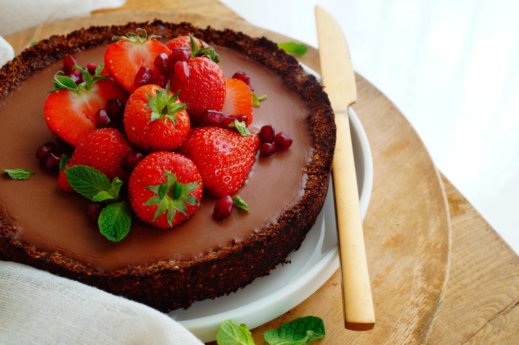 Chocoladetaart met kokos