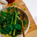 Groene minestrone met pesto