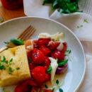Gekonfijte tomaten met focaccia