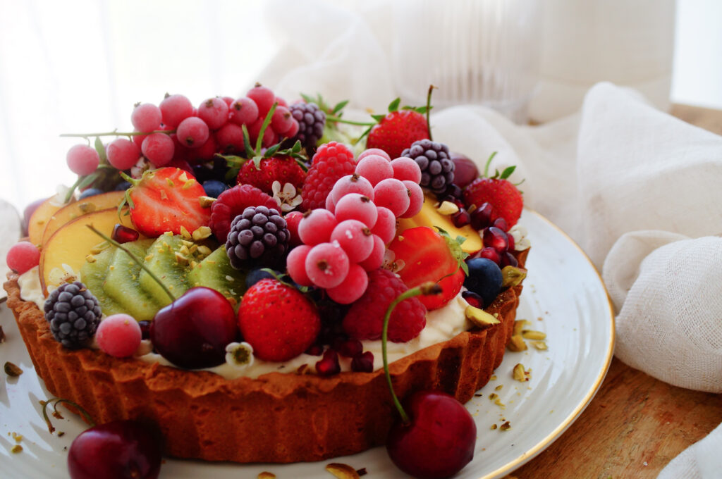 Fruittaart met mascarpone