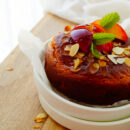 Ontbijtcake met nectarine