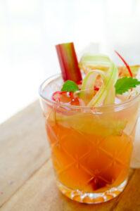 Mocktail met rabarber