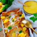 Wentelteefjes met kokos en mango