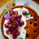 Frangipanetaart met druiven