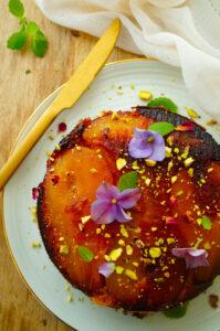 Omgekeerde perencake met speculaasijs