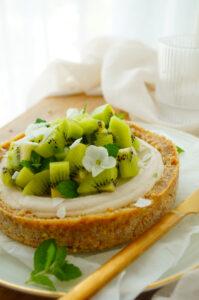 RAW taart met kiwi