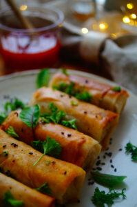 Loempia's met kip en garnalen