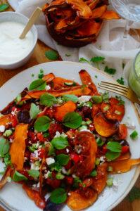 Nachos met zoete aardappel en merguez