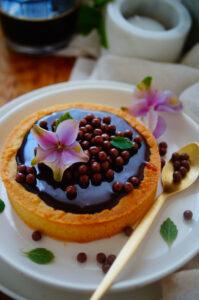 Karameltaart met chocolade