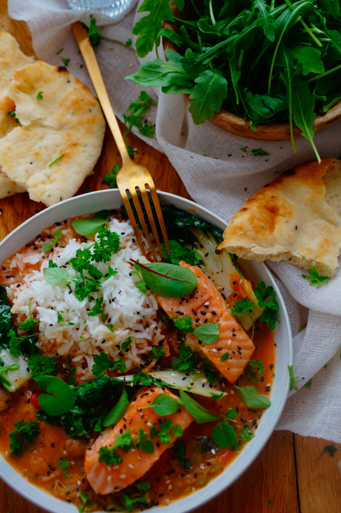 Zalm curry