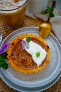 Crème Brûlée taart met pompoen