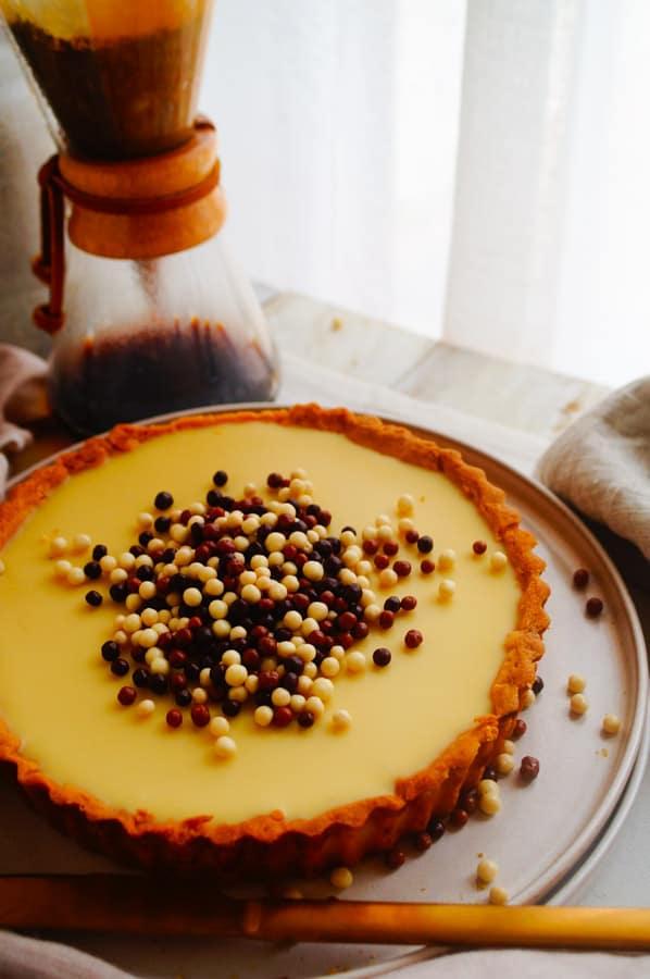 Bavarois taart met koffie & chocolade
