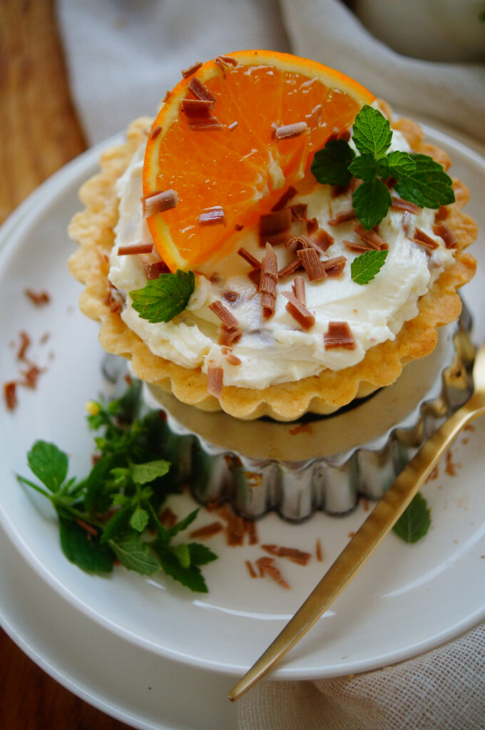 Stracciatella taart met sinaasappel