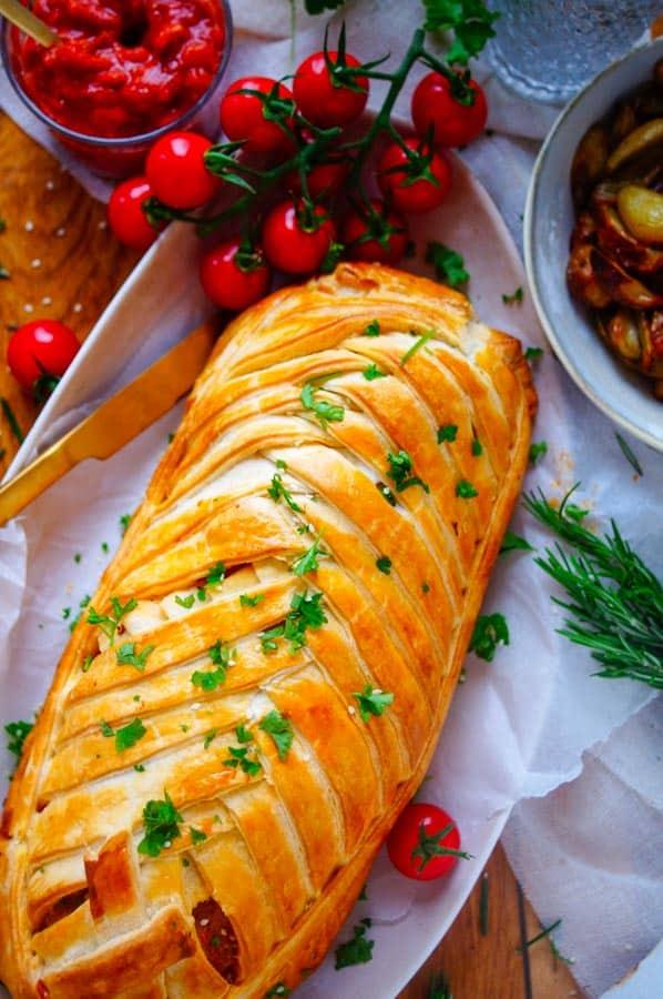 Italiaans gehaktbrood in bladerdeeg
