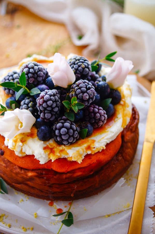 Cheesecake met kokos & dulce de leche