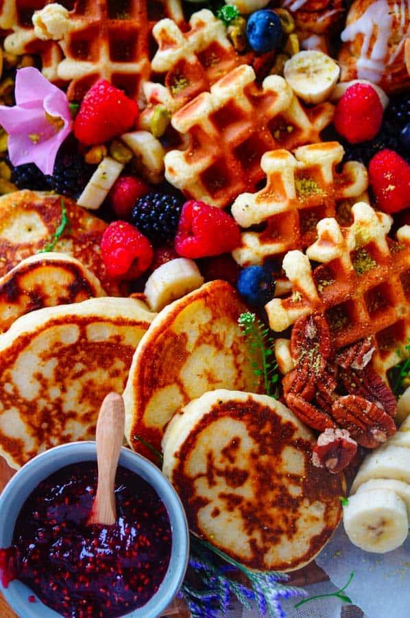 Ontbijt borrelplank