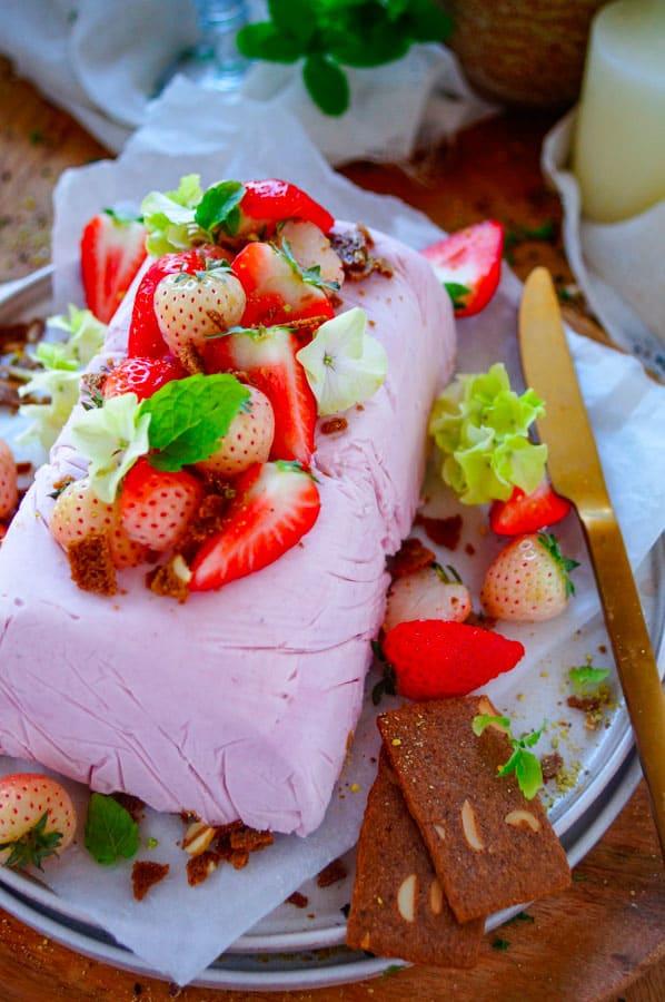 Parfait van aardbeien