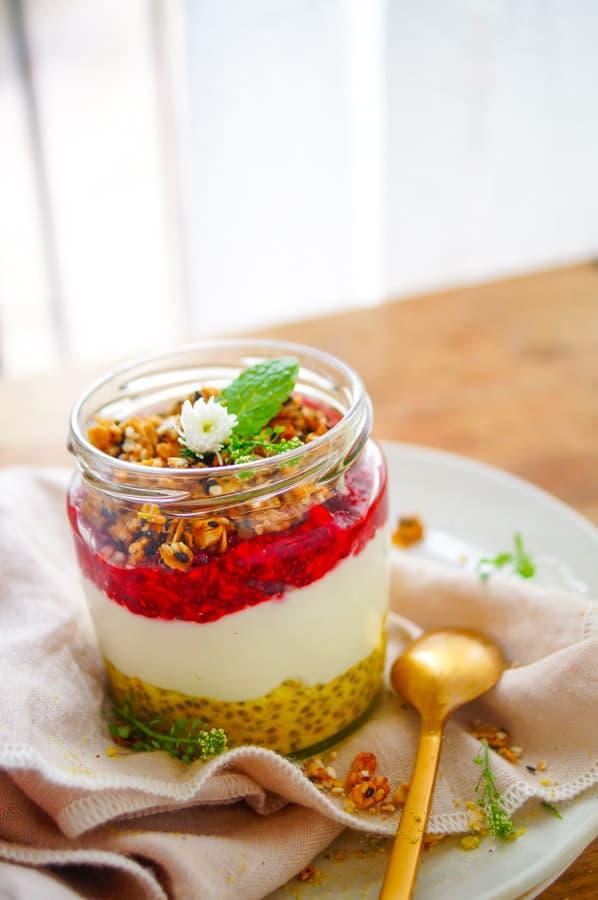 Golden milk chia pudding